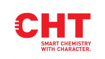 Logo CHT-Gruppe Schweiz, Textilien färben, Chemikalien für Industrie