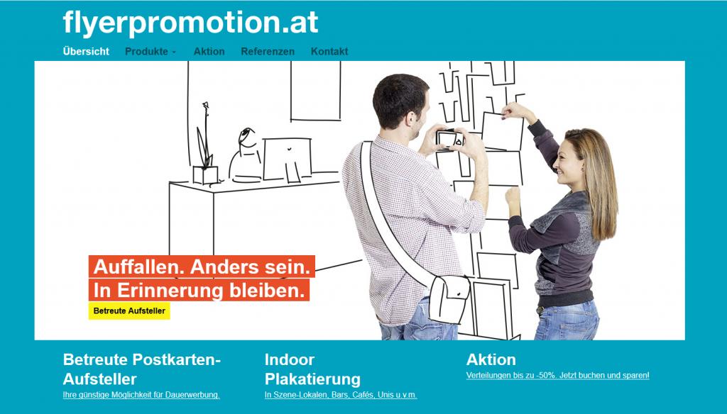 flyerpromotion.at, Plakate, betreute Postkarten-Aufsteller