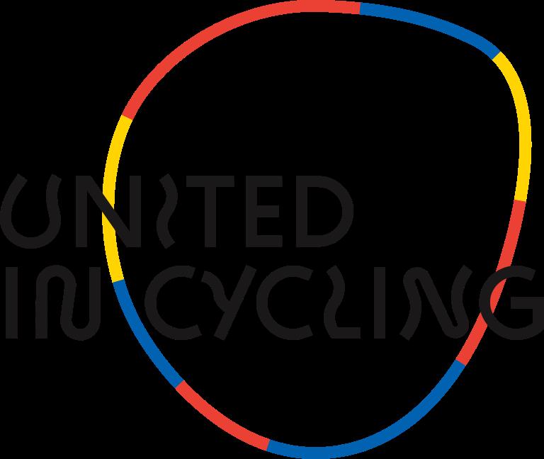 Logo United in Cycling, Radshop, Radcafé. Radwerkstatt, Kinderräder