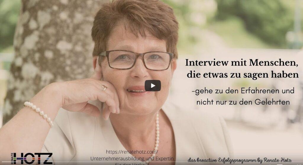 Interview mit Renate Hotz, kreactives Erfolgsprogramm